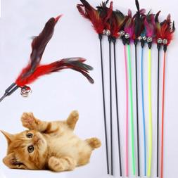 Make A Cat Stick Feather Random Color Natural With Small Bel