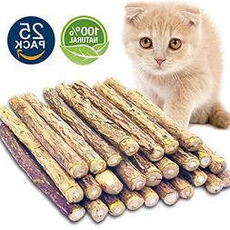 Matatabi Cat Catnip Sticks 25 Pcs or 50 pcs Cat Chew Sticks