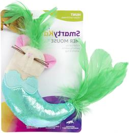 SmartyKat Mer Mouse Kicker Cat Toy with Feathers