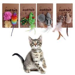 Mice Animal Cat Toys Catnip InteractiveToy Christmas Pet Pro