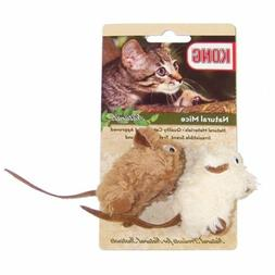 KONG Naturals Natural Mice Catnip Toy, Colors Vary, 2-Pack