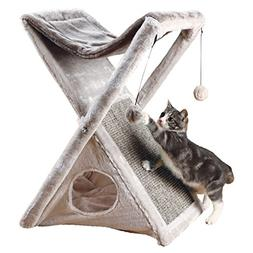 Trixie Pet Products Miguel Fold and Store Cat Tower, 20.25 x