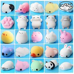Outee Mini Squishies Animals, Xmas Gift 25 Pcs Animal Toys S