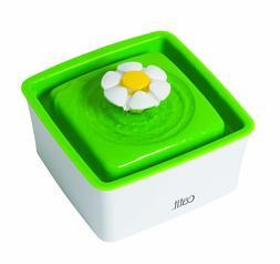 Catit Mini Water Drinking Fountain Green Square Flower Desig