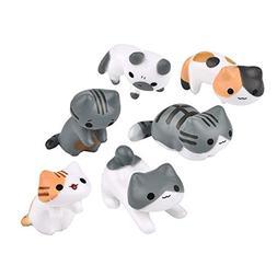 Neko 6pcs Miniature Home Fairy Garden Cats - Micro Kitty Lan