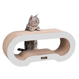 PetCheer MJ067W Jumbo Cat Scratcher Lounge Sofa with Catnip