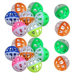 WinnerEco 18Pcs Pet Cat Kitten Play Balls With Jingle Bell P