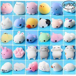 Outee Mochi Animals Stress Toys, 30 Pcs Mochi Squishy Toy Mi