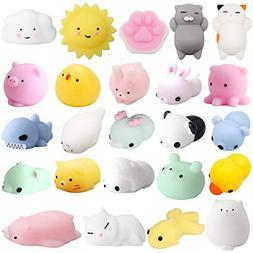 Mochi Squishys Toys, 24 Pcs Cute Kawaii Squishies Animals St