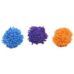 MOP BALLS CAT TOYS Lots 3/6/12/36  Moppy Colorful Fabric Rat
