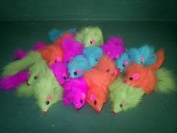 "Mouse Cat Toy - 50  Fur Mice 2"" Long - Multicolored"