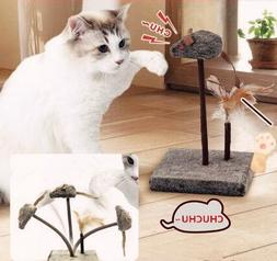 KOOBA Mouse Feather Interactive Motion Cat Toy, 3 in 1 Fun S