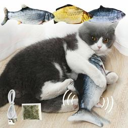 Moving Cat Kicker Fish Toy Interactive Cat Toy Realistic Flo