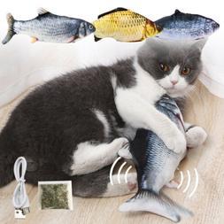 Catnip Fish Toys for Cats Squeaker Sound Simulation Fish Cat