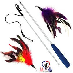 Pet Fit For Life Multi Feather Teaser and Exerciser For Cat
