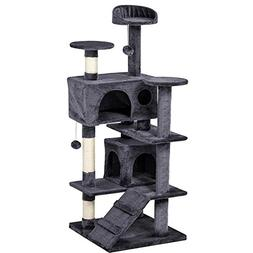 "Yaheetech 51"" Multi-Level Cat Tree Scratcher Condo Tower wit"