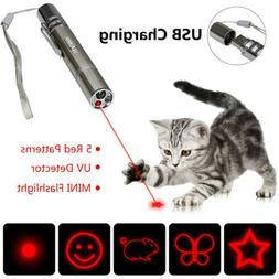 Pet Cat Kitten Toy Laser Pointer USB Charging LED Light Pen