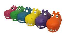 Multi Pet Hippo Assorted Colors Dog Toy 8in