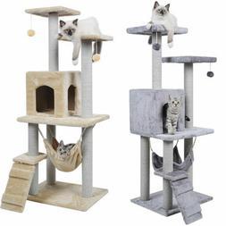 Multifunction Cat Tree Scratching Post Climbing Activity Cen
