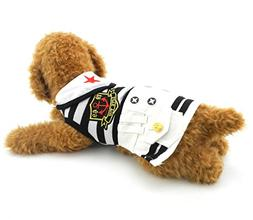 SELMAI Nautical Dog Sailor Dress for Small Girl Dog Puppy St