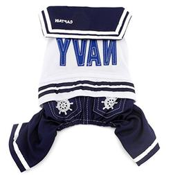 smalllee_lucky_store  Navy Captain Sailor Costume Dog Four L