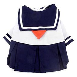 smalllee_lucky_store Navy Captain Sailor Costume Dog Dresses