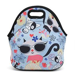 HAPPYLIVE SHOPPING Neoprene Reusable Insulated Lunch Tote Ba