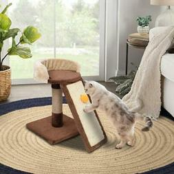 """New 17"""" Cat Tree Bed Furniture Scratching Tower Post Condo w"""