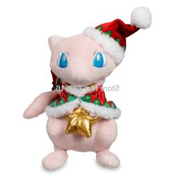 New Anime Stuffed Animals Pink Mew With Red Christmas Hat Ho