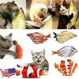 New Artificial Fish Plush Pet Cat Puppy Dog Toys Sleeping To