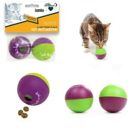 New Cat Treat Go Play N Twin Pack Toy Our Pets Dispensing Ba