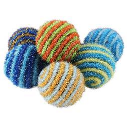 Agordo New Colorful Pet Cat Kitten Bouncy Rainbow Play Balls