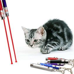 New Random Color Red Laser Pointer Pen White LED Light Kitte