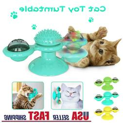 New Windmill Cat Toys Fidget Spinner for Kitten with LED and
