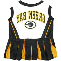 Green Bay Packers NFL Cheerleader Dress For Dogs - Size Smal