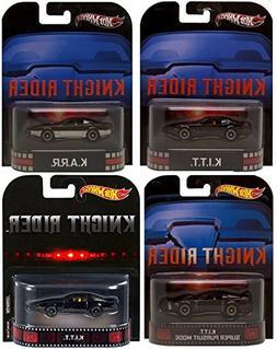 Night Rider KITT set of 4 RETRO Hot Wheels: KITT, KARR, KITT
