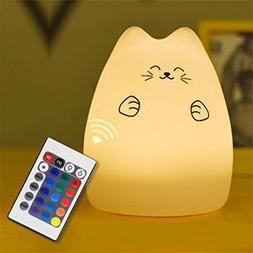 Nightlight,YJYdada Cute Silicone Cat LED Night Light Creativ