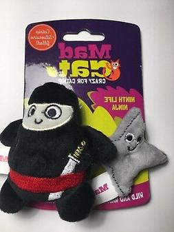 Ninja & Throwing Star Mad Cat Kitten Crinkle Toys CATNIP & S