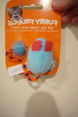 NWT CAT LOVE FURRY FROLICS CAT TOY MOUSE