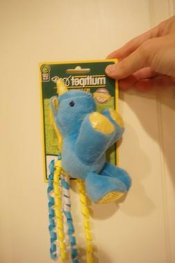 NWT MULTIPET CAT TOY  UNICORN WITH CATNIP  BLUE