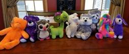 NWT Large Lot Plush Toys Teddy Bears Dogs Owl Cats Poodles S