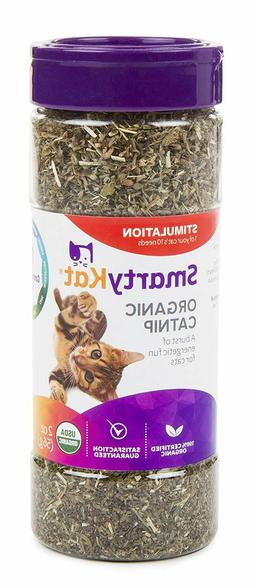 SmartyKat Organic Catnip, Safe, Pure, Without Chemicals, Pes