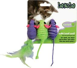 OUR PETS GO CAT GO TWIN MICE FEATHER 3 PACK INTERACTIVE. FRE