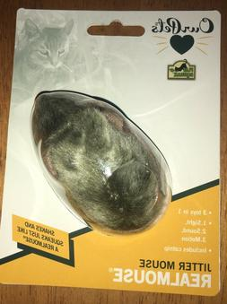 Our Pets JITTER MOUSE REALMOUSE CAT Squeaking Interactive Ca