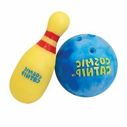 OurPets Catnip Vinyl Refillable Bowling Ball Cat Toy One to