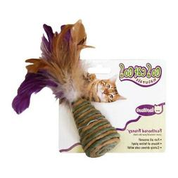 Our Pets Feathered Frenzy w/Cone Natural Cat Toy