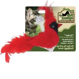 OurPets Play-N-Squeak Real Birds Fly Over Interactive Cat To