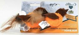 OurPets Play-N-Squeak Real Birds Touch Down Interactive Cat