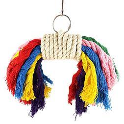 Wildgirl Parrot Bird Cotton Rope Chew Toy Bird Chewing Toys