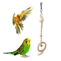 Parrot toys ,NNDA CO 1PC Parrot Bird Toys Swing, Round Natur